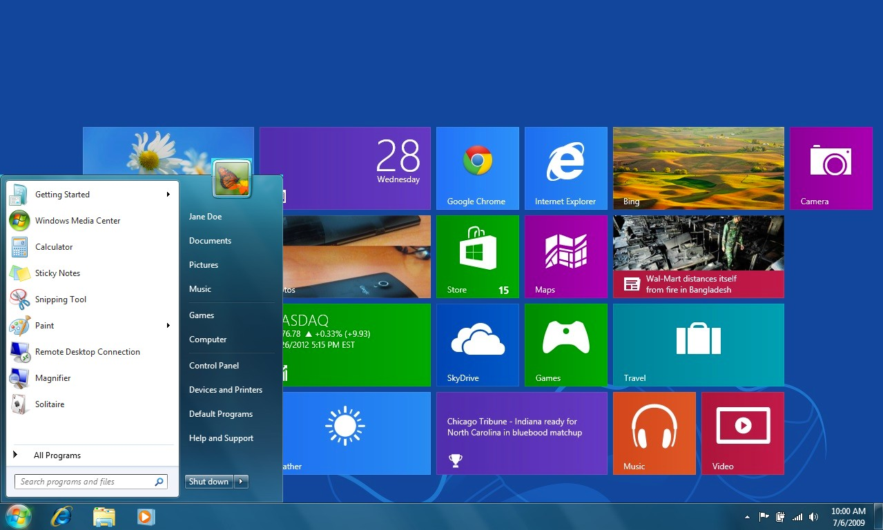 Windows 8 photo live tile not updating